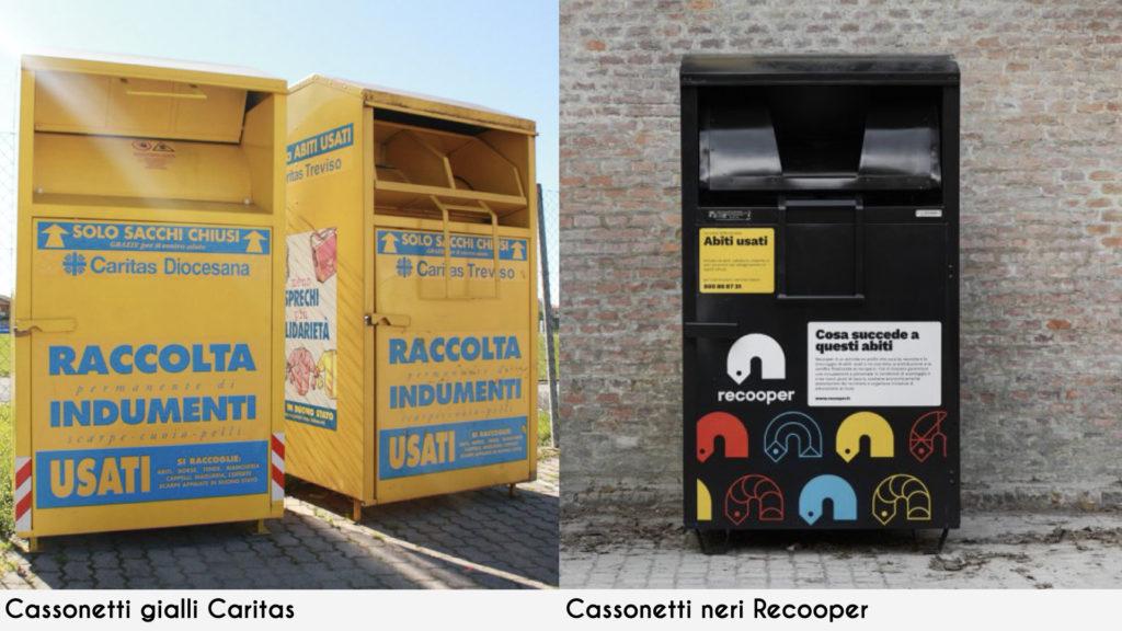 cassonetti gialli recooper riciclo abiti usati