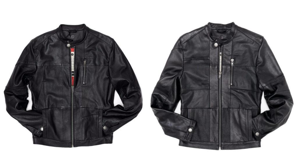 moda sostenibile uomo giacca di pelle