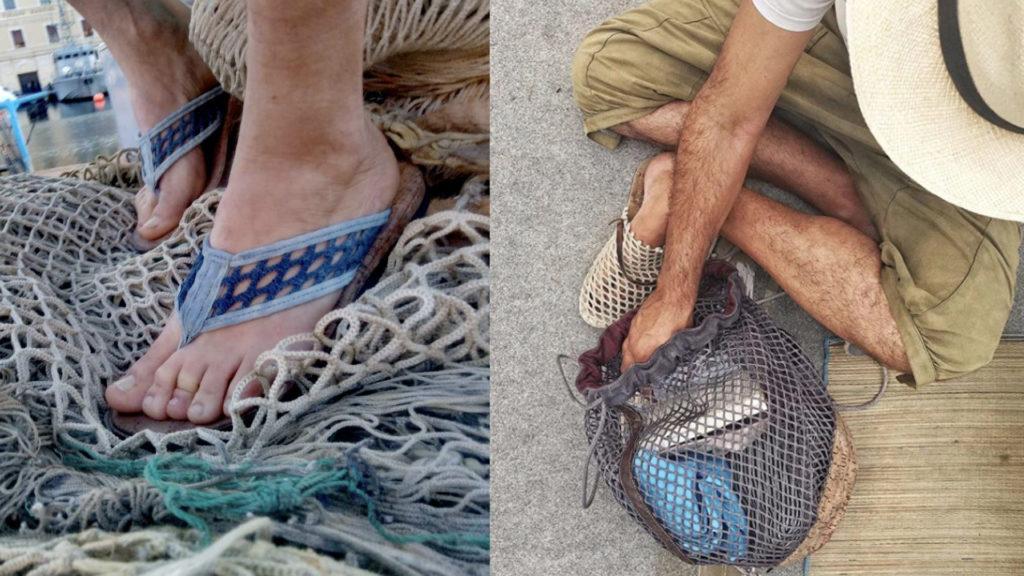 moda sostenibile uomo scarpe mare