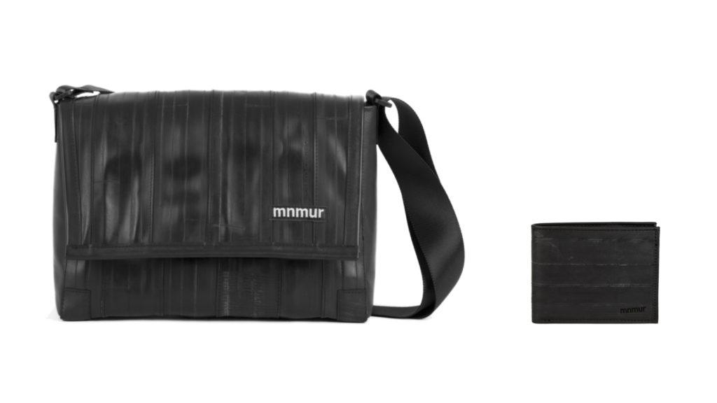 moda sostenibile uomo borse portafogli
