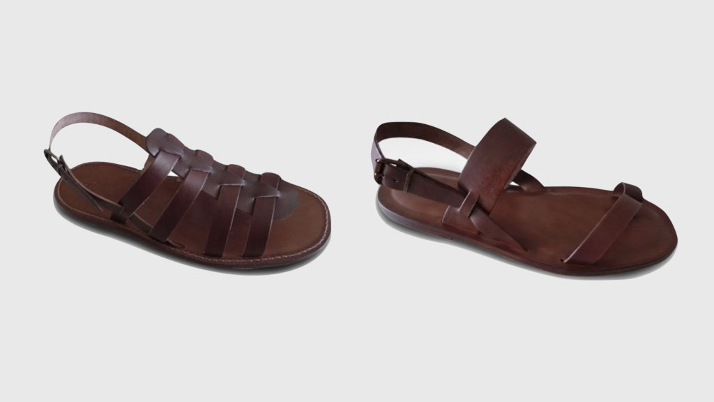 moda sostenibile uomo sandali