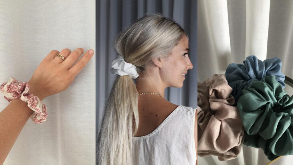 scrunchies elastici stoffa seta artigianali idee regalo