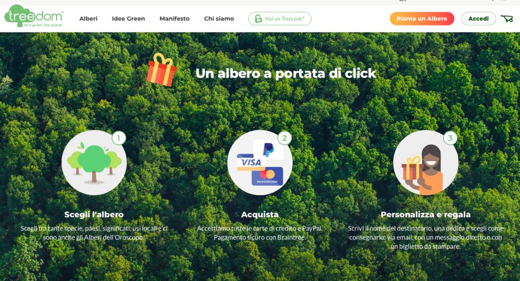 Treedom piantare alberi online